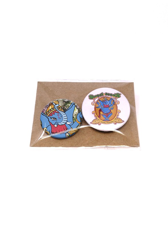 Pack of Elephant badges